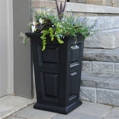 Large Black Planter  Ebay.
