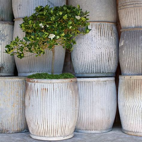 large metal planters for garden