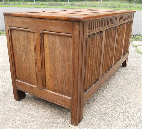 large oak blanket chest