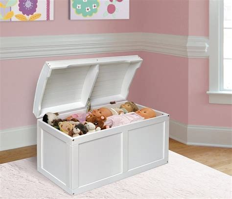 large white toy chest