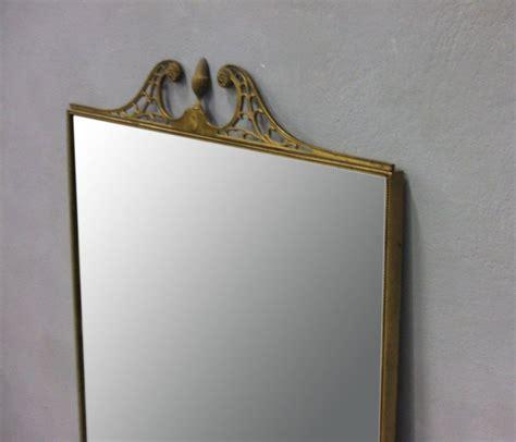 Brass Large Brass Framed Mirror.