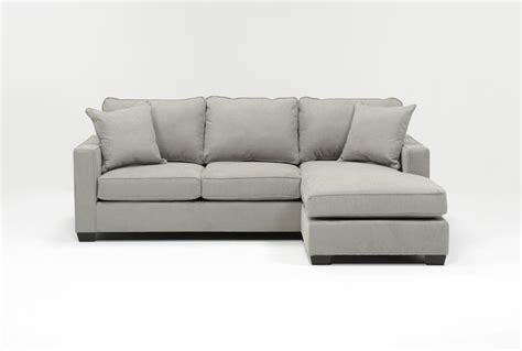 Large Sofa Bed With Chaise Egan Ii Cement Sofa Wreversible Chaise Living Spaces