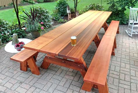 Large Wooden Outdoor Table