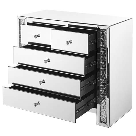 Lasater Crystal 5 Drawer Accent Chest