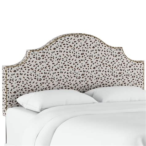 Laszlo Nail Button Notched California King Upholstered Panel Headboard