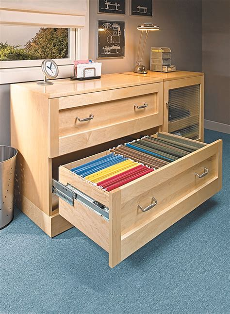Lateral File Cabinet Woodworking Plan