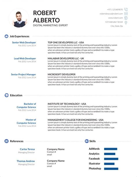 Latest Resume Format Online Free Cv Templates Download Free Sample Resume Cover Letter Format