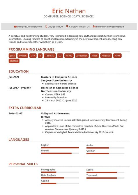 latest resume format for freshers free download resume sample resume format for fresh graduates two page - Resume Format For Freshers Free Download