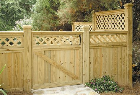 Lattice Top Fence Plans