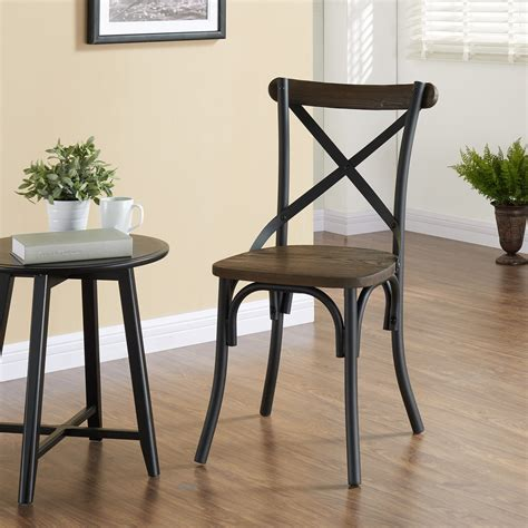 Laurie Industrial Solid Wood Dining Chair