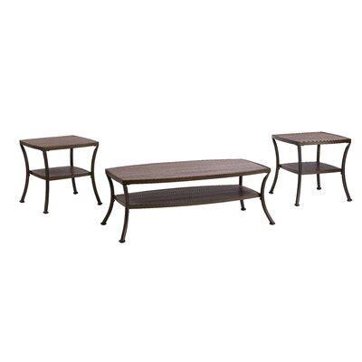 Laverne Modern 3 Piece Coffee Table Set