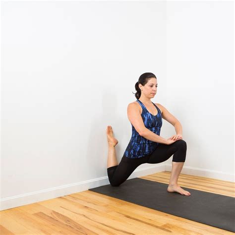 laying on back hip flexor stretch kneeling against wall