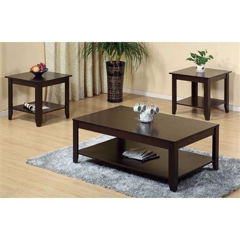 Leafwood 3 Piece Coffee Table Set