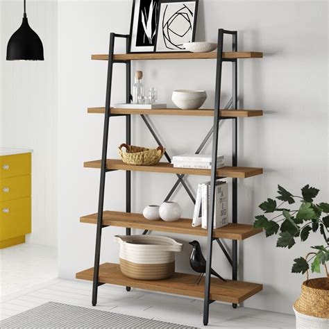 leaning ladder bookcase in white