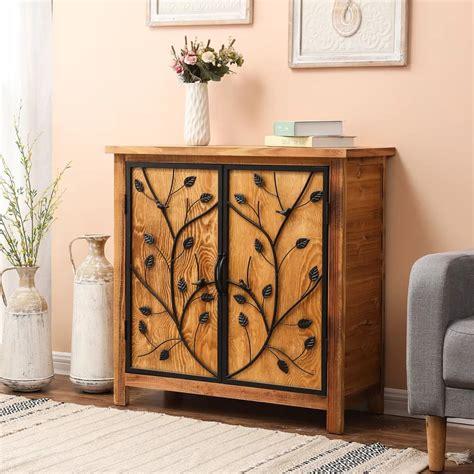 Leanora Wood 2 Door Accent Cabinet