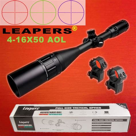 Rifle-Scopes Leapers 4 16x50 Air Rifle Scope.