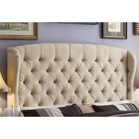 Leatham Queen Upholstered Wingback Headboard by Three Posts