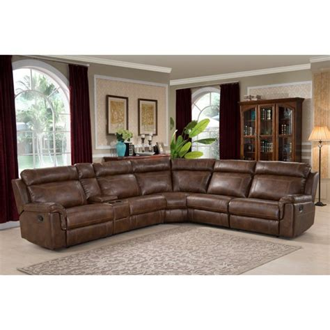 Leather Sofa Cleaner Clark 6 Pc  Leather Modular Sectional Sofa Chocolate