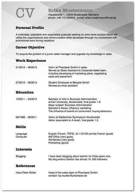 lebenslauf englisch muster schweiz lebenslauf auf englisch inkl muster auswandern handbuchde - Lebenslauf Schweiz