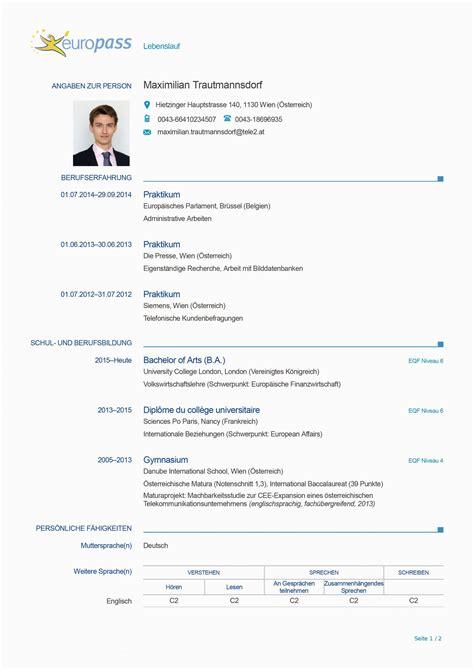 example of a europass cv more examples httpeuropasscedefop. europass ...