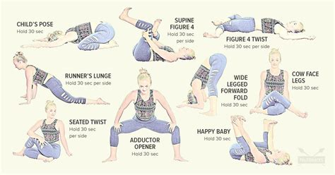 left hip pain stretches