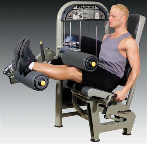 leg machine exercise equipment at the gym