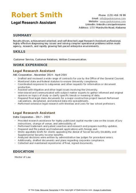 Legal Assistant Resume Duties Research Assistant Resume Example Sample