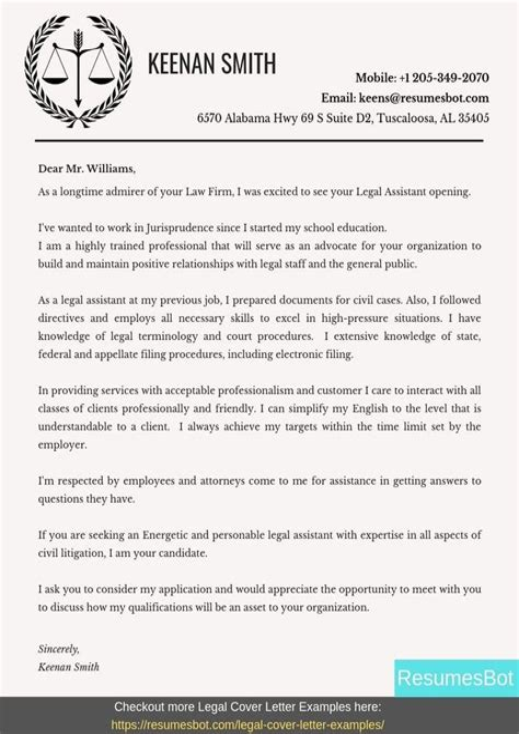 Legal Cover Letter Samples Resume Cover Letter Samples Bestsampleresume