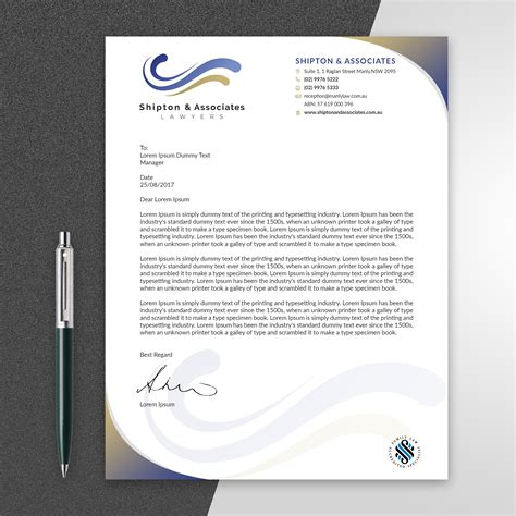 Legal Letterhead Template Legal Letter Template 9 Free Word Pdf Documents