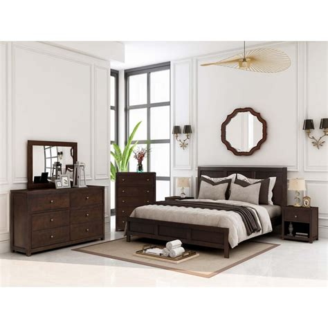 Leishman Platform 6 Piece Bedroom Set by Three Posts