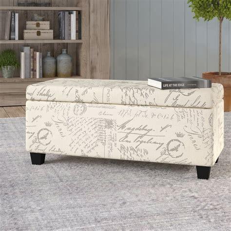 Lemieux Fabric Storage Bench