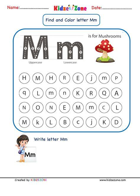 Letter M Worksheets Letter M Worksheets Softschools