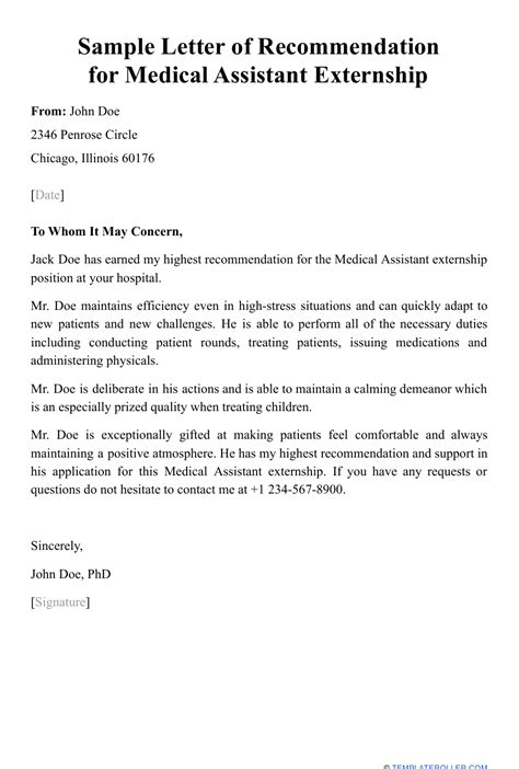 Letter Of Recommendation Sample Medical Student Medical Assistant Recommendation Letter Sample Medical