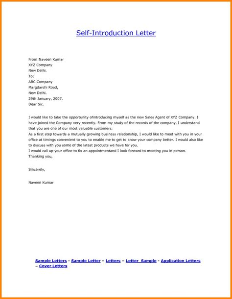 Letter Yourself Example Business Letter Format