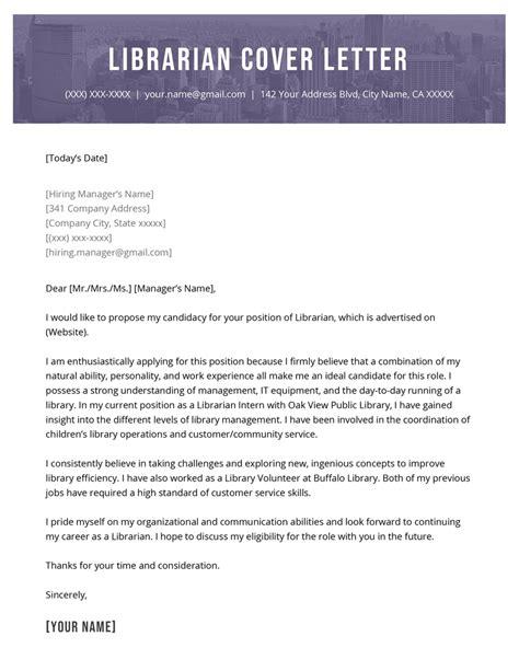 Cover Letter For Job Application Librarian Career Faqs