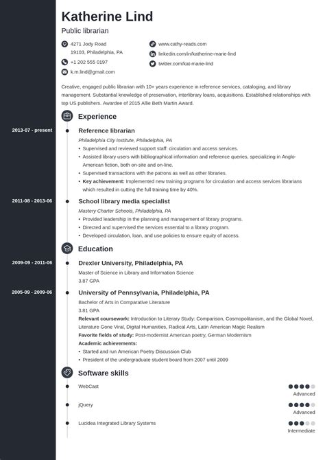 sample resume for library media specialist - Sample Academic Librarian Resume