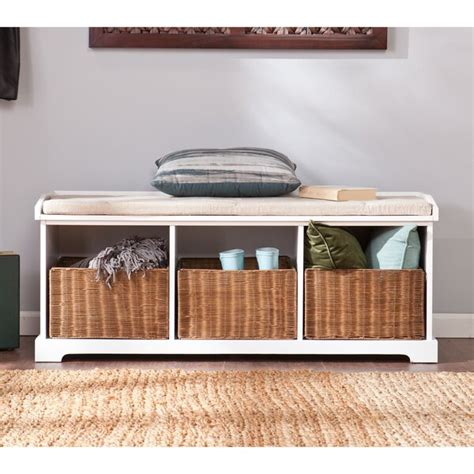 Lindell Wood Storage Bench
