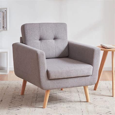 Linen Button Tufted Armchair