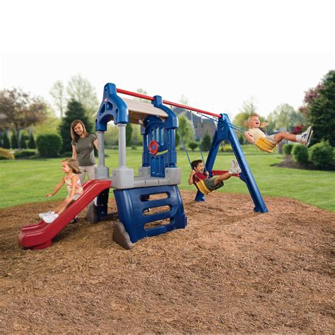 little tikes plastic swing sets