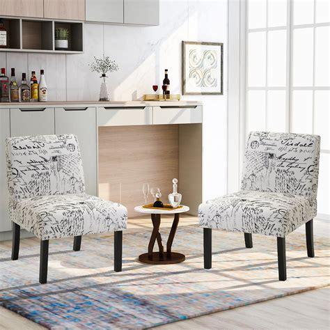 Living Room Slipper Chair (Set of 2)