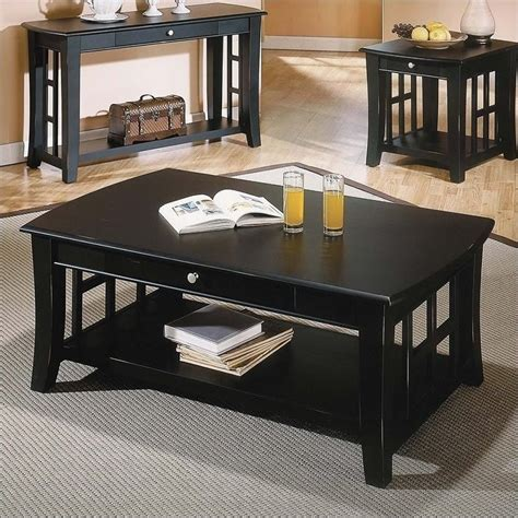 Lochleven Transitional 3 Piece Coffee Table Set