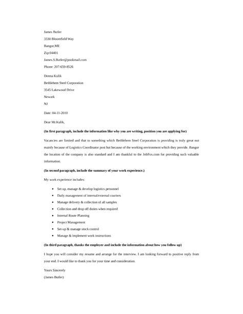 resume for logistics coordinator