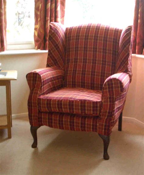 Loose Seat Wingback Chair