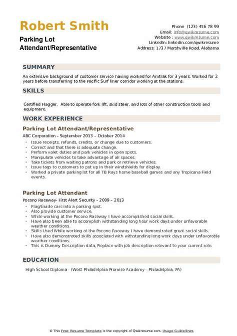 valet resume skills examples resume ixiplay free resume samples - Valet Attendant Resume
