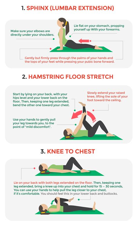 low back pain stretching exercises pictures