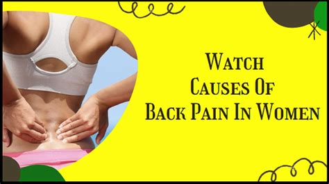 lower back pain causes female right side