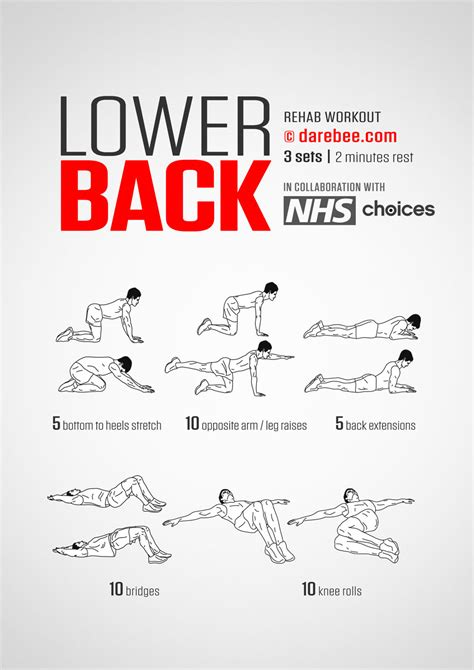 lower back pain exercises at work