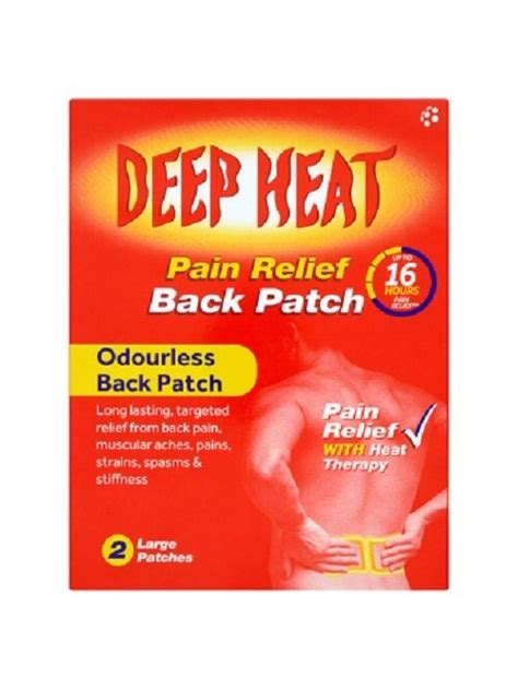 lower back pain relief patches
