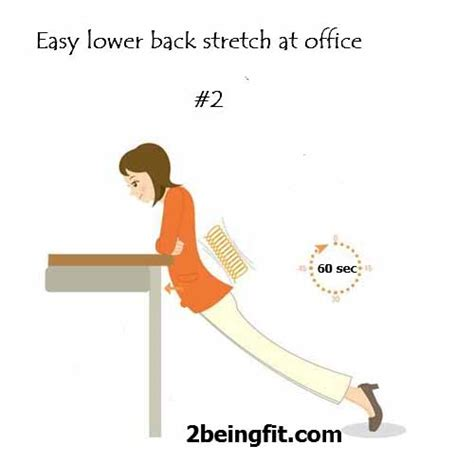lower back pain stretches at the office