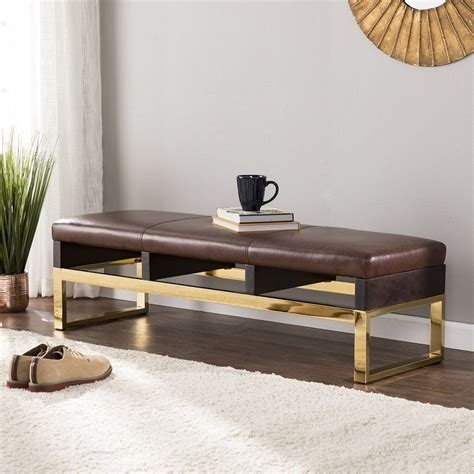 Lower Failand Faux Leather Bench